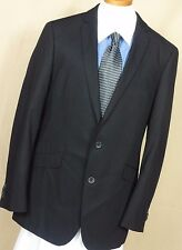 Men's Kenneth Cole Reaction Black 2 Button Polyester Blend Sport Coat Size 42L