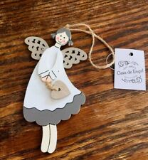 Small Wooden Angel Gift Christmas Christening Birthday
