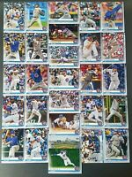2019 Topps Series 1 & Series 2 CHICAGO CUBS Complete Team Set (28) Wholesale