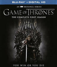 Game of Thrones: The Complete First Season (Blu-ray Disc, 2016, 5-Disc Set) Slim