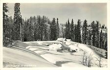 c1940 RPPC Postcard Chinquapin Yosemite CA in Deep Snow Mariposa County Unposted