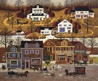 """Charles Wysocki """" Hawk River H0llow """" # 313/1250  Mint W/Cert 1985"""