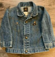 Vintage Lee Denim Blue Jean Cowboy Trucker Farm Work Jacket Coat Youth Size 4T