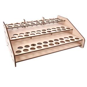 Multi Layer Wood Model Paint Rack Modular Tidy Organizer Bottle Holder #124