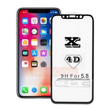 4D HD Black Full Coverage Genuim Temper Glass Film Screen Protector for iPhone X