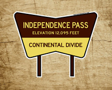 """Independence Pass Colorado Decal Sticker Continental Divide Rocky Mountains 4"""""""