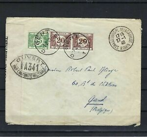 [M145513] Belgium N°TX36 on Cover from Strasbourg France 1940 COB € +12,00 UNG