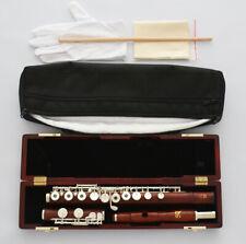 Grenadilla Rose Wooden 16 Open Holes Flute C Key C Foot Split E Offset G NEW