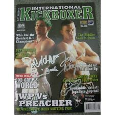 JOHN WAYNE PARR JWP & BRUCE PREACHER McFIE Hand Signed Kickboxer Magazine