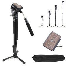 Pro Monopod+Fluid Pan Head Ball+DV Unipod Holder for Canon DSLR Digital Camera