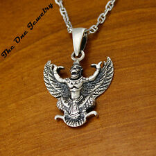 922 Sterling Silver Solid Vintage Buddhism Eudemon Charm Pendant For Necklace