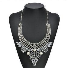 Pendant Chain Crystal Choker Chunky bib Statement Necklace women Fashion Jewelry
