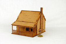 North American  HOUSE with PORCH & STONE CHIMNEY #1 28mm Terrain M002