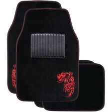 Dragon Car Floor Mats - Carpet Red Set of 4