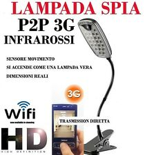 MICROSPIA LAMPADA SPIA WIFI Spy Camera Spia HD MOTION DETECTION TELECAMERA