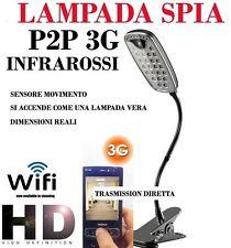 MICROSPIA LAMPADA SPIA WIFI Spy Camera Spia HD MOTION DETECTION TELECAMERA