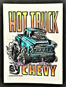 Hot Truck STICKER By Chevy Roth Rat Fink Official Original