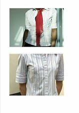 Blouse Short Sleeve Business Striped Tops & Shirts for Women