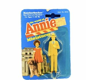 Little Orphan Annie miniature toy figure knickerbocker 1982 Rooster Tim Curry