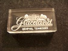 Graceland Memphis, Tennessee etched on back acrylic/plastic block Elvis Presley