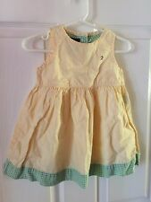 Tommy Hilfiger Girls Dress Size 12 18 Months Baby Easter Spring Summer Plaid EUC