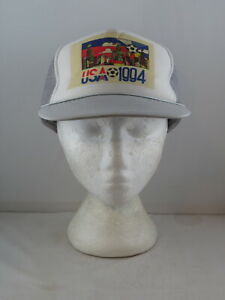 Vintage Soccer Hat - Wold Cup1994 Screened Trucker Hat- Adult Snapback