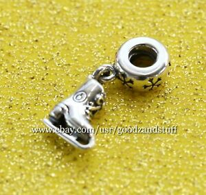 Ice Skate Authentic Pandora Sterling Silver Charm 791025