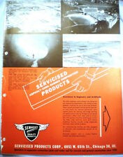 Servicised Products Catalog ASBESTOS ASPHALT Bridge Planking Deck Roadway 1955