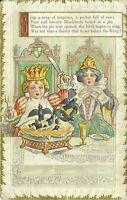 Embossed Nursery Rhyme Art Old King Cole 1910 Postcard