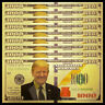 Lot 10 PCS, FEDERAL TRUMP NOTE, Fancy Note, Color Gold bill, 2018, gift, UNC