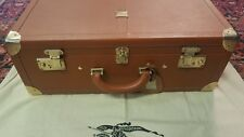 Burberry Authentic True Vintage Luggage Travel Leather Suitcase Ultra Rare