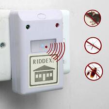 White Ultrasonic Riddex Plus Electronic Pest Rodent  Repeller 220V/110V US Plug