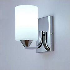 60w LED Modern White Wall Light Glass Sconce Lighting Lamp Fixture Bedroom Decor