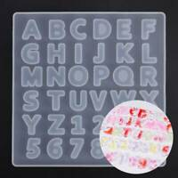 3D Alphabet Letter Number Silicone Mold Jewelry Resin Casting Mould DIY Craft AU