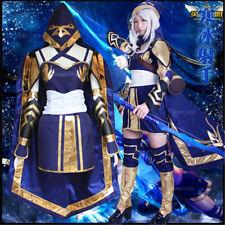 Cosplay Costume Lolita Dress NEW GAME League of Legends LOL Ashe Uniform COS