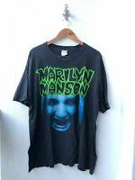 Vintage Marilyn Manson 1994 Band T-Shirt Reprint XL  A676