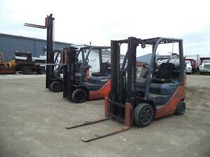 "2008-2011 Toyota Model 8FGCU20, 4,000#, 4000# Cushion Tired Forklift, 118"" Lift"