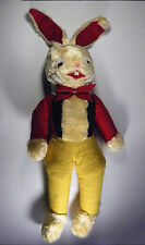 Brer Rabbit Molasses ADVERTISING PREMIUM Plush Stuffed Animal Uncle Remus VTG