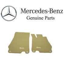 NEW Mercedes Benz R230 SL-Class Beige Stone Carpeted Velour Floor Mats Genuine