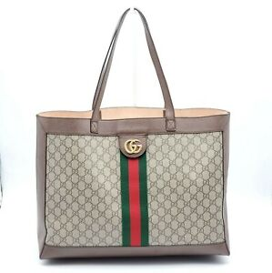 100% Authentic Gucci GG Ophidia Large Canvas Tote Bag