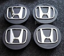 Set of 4 NEW Black Wheel Center Caps for Honda CRV CIVIC ELEMENT ODYSSEY PILOT