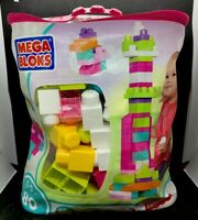 Mega Bloks First Builders Big Building Bag 80 Pieces - Pink (DCH62)
