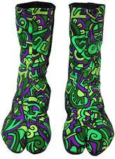 original UV Ninja Boots von Space Tribe Hippie Goa Schuhe Psy Art Tabi Stiefel 5