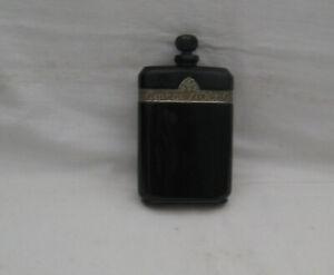 """SCARCE VINTAGE 1922-23 CARON PARIS """"NUIT DE NOEL"""" PERFUME BOTTLE BLACK CUT GLASS"""
