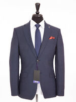 Men's Scott By the Label Blue Hounds tooth Check Tailored Fit Suit 42R W36 L31