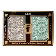 100% plastic acetate KEM ARROW Bridge/Regular playing cards 2 decks -Green/Brown