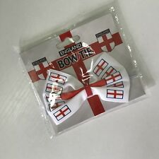 Pajarita St Georges Inglaterra Bandera Inglaterra Fútbol Elástico Corbata De Moño BNWT