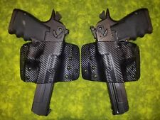 DEADPOOL 2 HOLSTERS L & R BLACK CARBON FIBER KYDEX FITS DESERT EAGLE 357 44 50