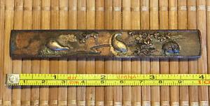 Original Japanese Sword, Kodzuka Handle, Quail And Flower Design