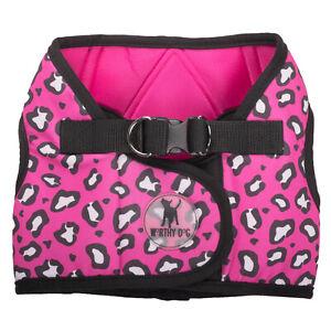 The Worthy Dog Sidekick Harness Cheetah Pink Size Medium